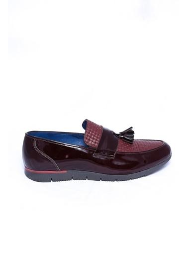 Wessi %100 Deri Loafer Ayakkabı Bordo